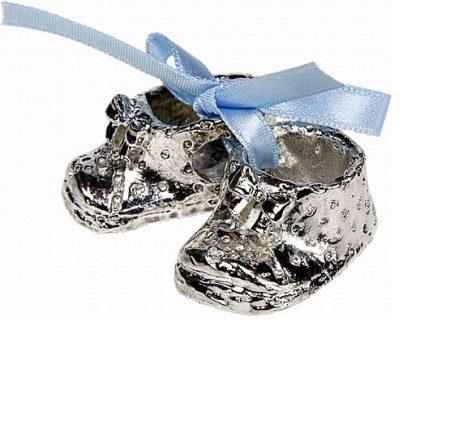 Verzilverd baby schoentje-Baby cadeau