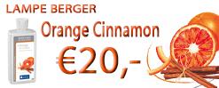 De nieuwe geur van de maand van Lampe Berger (september, oktober, november en december 2016): Orange Cinnamon. Nu te koop bij Au Goût Exclusif!