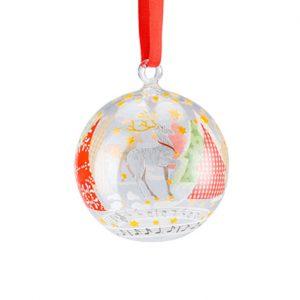 49707 - Glazen Kerstbal - o dennenboom 2017