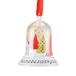 49705 Hutschenreuther glazen kerstklokje 2017