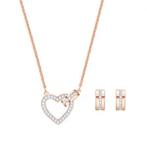5380718 Lovely Set zilver-rose - Swarovski