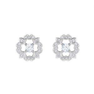 5396227 Sparkling dance flower oorstekers zilver