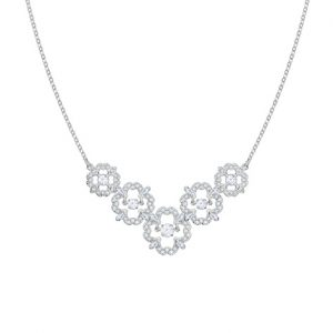 5397240 Sparkling dance flower ketting medium - zilver