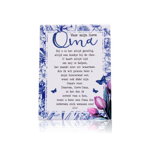 Gedichtentegel Mijn Lieve Oma